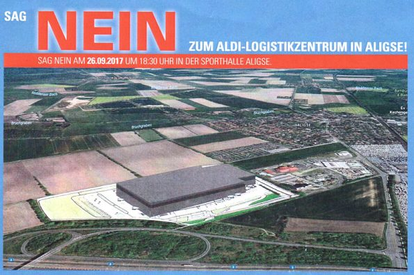Bürgerversammlung zu ALDI Logistikzentrum in Aligse